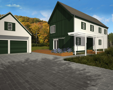 The Traditional Lofthouse package from Blu Homes provides a more classic look.