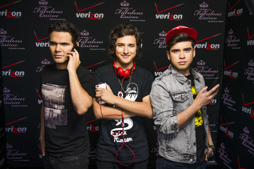 Verizon launches My Fabulous Quince with 3BALLMTY. DJ Otto (left), Erick Rincon (center) and Sheeqo Beat (right) will perform at the grand prize winner's party