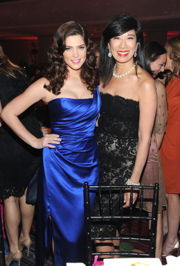 mark Brand Ambassador Ashley Greene and Avon Chairman and CEO Andrea Jung celebrate Avon's 125th Anniversary at the Avon Foundation for Women Gala in New York City