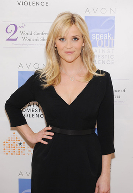 Honorary Chairman of the Avon Foundation for Women Reese Witherspoon at the 2nd World Conference of Women's Shelters in Washington, D.C.