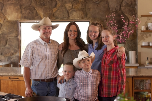 Ree Drummond and her family on her ranch in new series The Pioneer