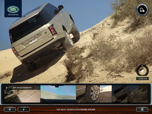 Land Rover's The Trail Less Traveled exploration app with the all-new Range Rover