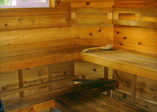 Travelers can relax in the in-home sauna found at Cherry Circle, featured on TripAdvisor's list of Great U.S. Vacation Rental Amenities.