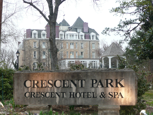 1886 Crescent Hotel & Spa, Eureka Springs, tops TripAdvisor's list of America's haunted hotels.  (A TripAdvisor traveler photo).