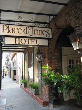 TripAdvisor's ''most haunted'' list includes the Place D'Armes Hotel, New Orleans. (A TripAdvisor traveler photo).