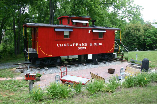 1926 C&O Caboose, which tops TripAdvisor's list of quirky American vacation rental homes.