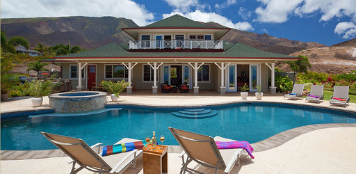 Vacation rental home available on TripAdvisor in Lahaina, Hawaii, one of the top winter sun vacation rental destinations according to TripAdvisor. (A TripAdvisor photo)
