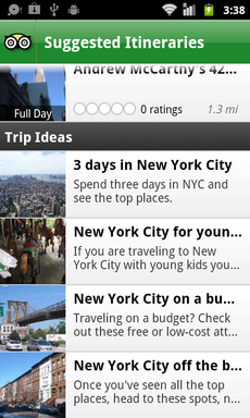 City Guides now offers itinerary suggestions based on popular themes such as family travel, travel on a budget, and off the beaten path