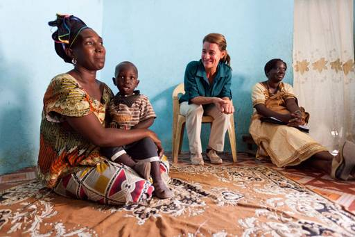 Melinda Gates, co-chair of the Bill & Melinda Gates Foundation, discusses family planning with Senegalese mothers in Dakar.