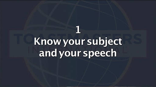 An important Toastmasters time-tested tip for effective communication.