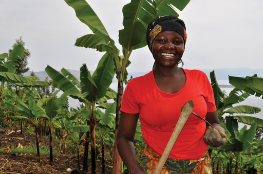 Felicienne used her loan from One Acre Fund to support her farming business in Rwanda. Photo courtesy of Stephanie Hanson.