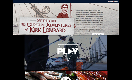 Dark Rye explores the curious adventures of Kirk Lombard, a foraging fisherman in the Bay Area.