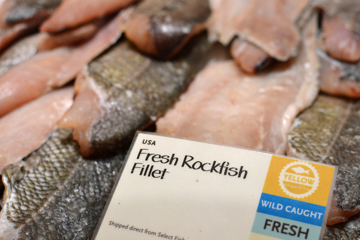 Yellow-rated rockfish at Whole Foods Market fish counter
