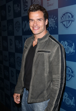 Antonio Sabato, Jr. poses at the Warner Bros. Consumer Products and Junk Food Clothing Batman Classic TV Series product launch at Meltdown Comics in Hollywood, CA on March 21, 2013.