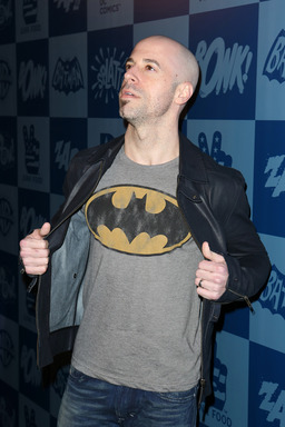 Chris Daughtry poses at the Warner Bros. Consumer Products and Junk Food Clothing Batman Classic TV Series product launch at Meltdown Comics in Hollywood, CA on Thurs., March 21, 2013.