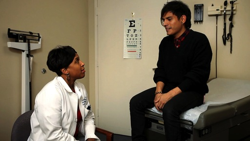 Edric, a young male adult who is sexually active, discusses his concerns with Dr. Wimberly.