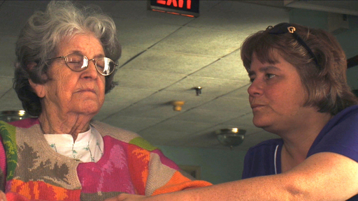 Ann visits with her mom, who has Alzheimer's disease and is in a nursing home.