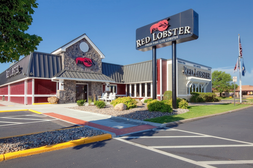 Red Lobster's remodeled restaurant design was inspired by the New England coast (pictured here: Bloomington, Minn.)