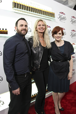 Cheryl Vitali, General Manager - Kiehl's Worldwide with Ana Matronic and Baby Daddy of The Scissor Sisters