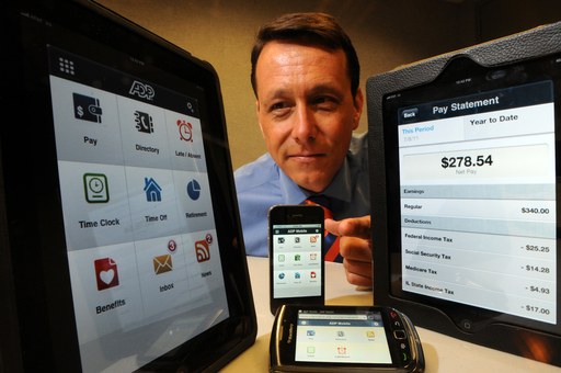 ADP Chief Strategy Officer Jan Siegmund unveils the new ADP Mobile Solutions app