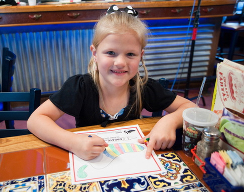 Chili's guests young and old, like Allie, love to create a pepper