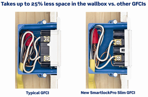 Leviton Slim vs Typical GFCI