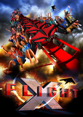 X-Flight – A revolutionary wing coaster with no track above or below.
