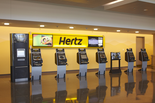 Hertz ExpressRent Kiosk, a first for the industry, now offers both airport and neighborhood location customers the ability to rent cars through a live, face-to-face video kiosk.