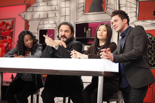 Justin Willman, Shinmin Li, Tom Savini and Rutina Wesley on HALLOWEEN WARS, Season 2