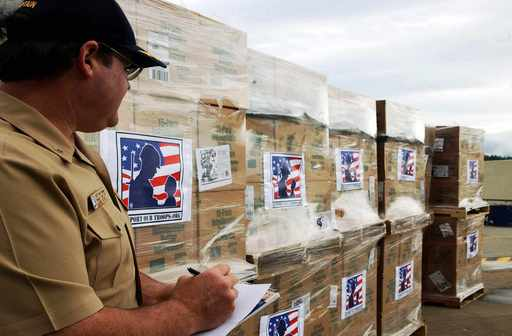 Customers have the option of sending popcorn treats to U.S. Troops stationed all over the world