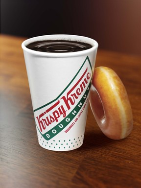 Krispy Kreme Coffee and a Doughnut