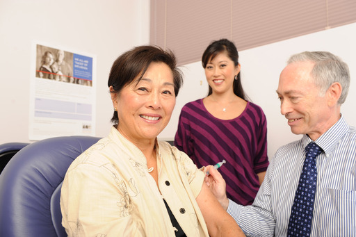 Kristi Yamaguchi, spokesperson for the Faces of Influenza campaign, makes vaccination a priority every year along with her mother, Carole, to encourage family members of all generations to get vaccinated.