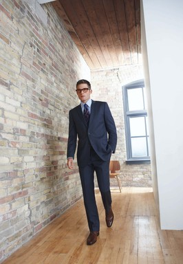 Men's Wearhouse Navy Suit
