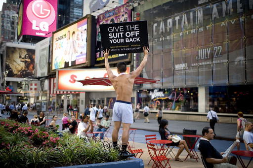 "2011 ""Suit Off My Back"" – Times Square, NY"
