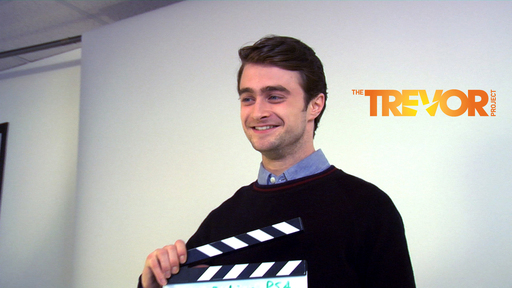 The Trevor Project behind the scenes with Daniel Radcliffe (credit Paul Loverde)