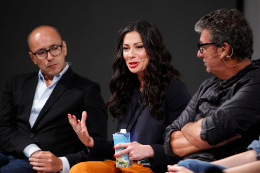 LG MOBILE STYLE AMBASSADOR, STACY LONDON, AT THE PARSONS PANEL DISCUSSION SPONSORED BY LG