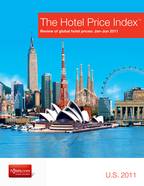 hotels.com Hotel Price Index shows effects of 2011 world events on hotel prices worldwide. Global price average increased 3%, showing a gradual recovery from the economic downturn.