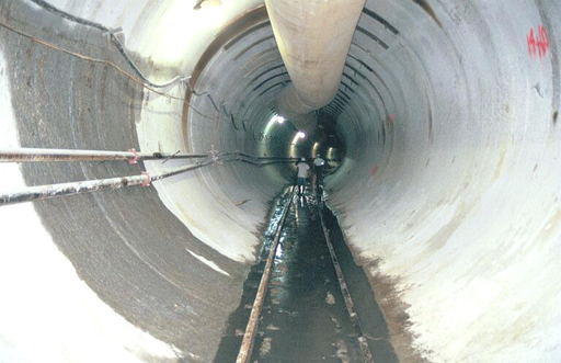 The 23-foot diameter tunnels that will store combined sewer overflows will be similar to this one.