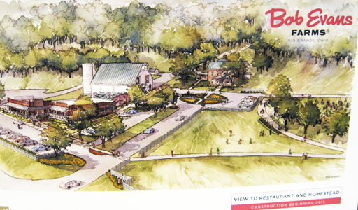 An artist's rendering of the future of the Bob Evans Farm