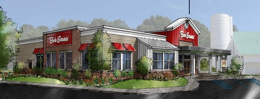 A rendering of the newly rebuilt 'Restaurant #1,' located on the Bob Evans Farm