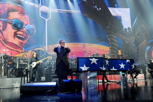 Elton John makes his triumphant return to Caesars Palace with his new show ''The Million Dollar Piano.'' Credit: Denise Truscello / WireImage
