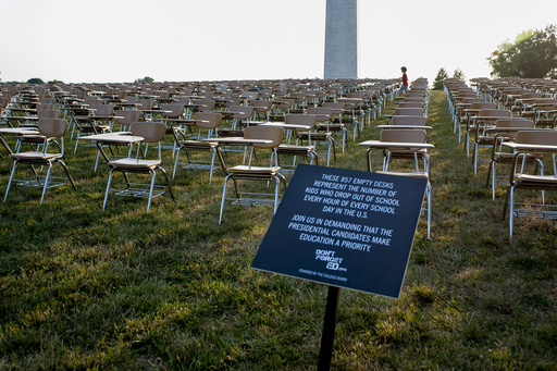 The College Board's Don't Forget Ed campaign launches with a powerful installation on the National Mall.