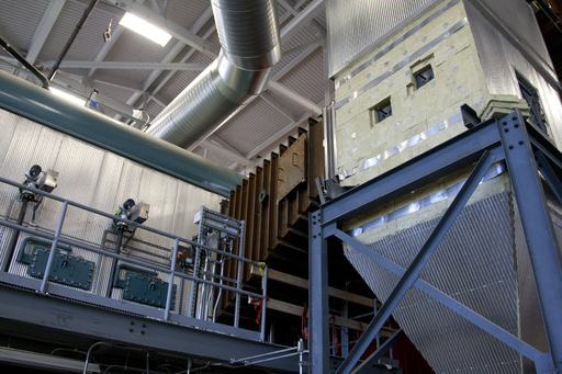 Eastern Illinois University's biomass boiler turns wood chips into synthetic natural gas