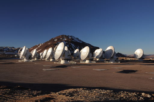 The Atacama Large Millimeter/submillimeter Array (ALMA) at its 16,500-foot elevation site in northern Chile. ALMA is already the most powerful telescope of its kind in the world