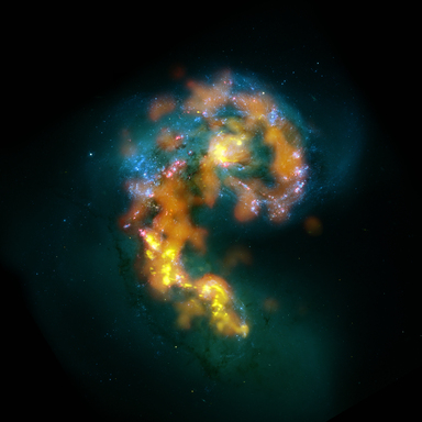 ALMA's first test views show details in stellar nurseries that no other telescope on Earth or in space has ever achieved. Here are star-forming regions as seen by ALMA in orange & yellow.
