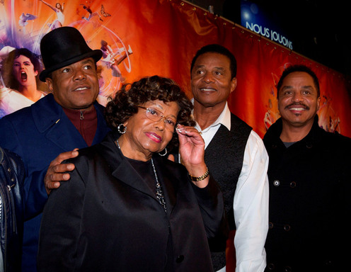 MONTREAL, Oct. 2: Katherine Jackson and her three sons, Tito, Jackie and Marlon attend the world premiere of Michael Jackson THE IMMORTAL World Tour by Cirque du Soleil.