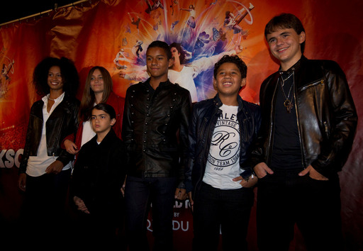 MONTREAL, Oct. 2: Michael's children, Prince, Paris and Blanket, along with their cousins attend the world premiere of Michael Jackson THE IMMORTAL World Tour by Cirque du Soleil.