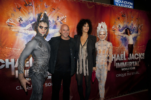 MONTREAL, Oct. 2: Cirque du Soleil Guide and Founder Guy Laliberté and Claudia Barila attend the world premiere of Michael Jackson THE IMMORTAL World Tour.