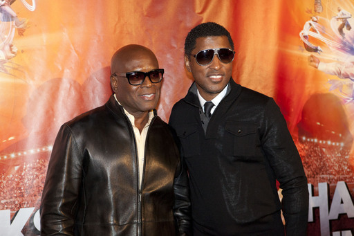 "MONTREAL, Oct. 2: L.A. Reid of Epic Records and Kenneth ""Babyface"" Edmonds walk the red carpet at the world premiere of Michael Jackson THE IMMORTAL World Tour."