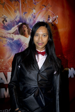 MONTREAL, Oct. 2: Costume Designer Zaldy Goco on the red carpet at the world premiere of Michael Jackson THE IMMORTAL World Tour by Cirque du Soleil.